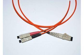 FibreFab LC-SC-1-M5DL optický propojovací kabel LC-SC duplex MM 50/125um 1m