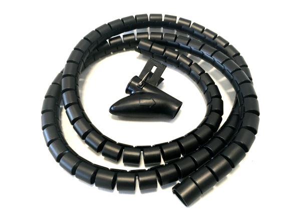 SKO-1520 spirálový organizér kabelů, průměr 20mm, délka 1,5m, černý