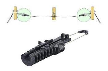 ACADSS10 kotva pro optické kabely 10 - 12mm