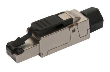 SOLARIX SXRJ45-6A-STP-BK-SA konektor RJ45 pro vodiče AWG 26 - 23, kat. 6A, STP