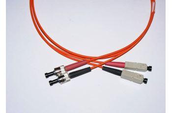 FibreFab SC-ST-0,5-M6DL optický propojovací kabel SC-ST duplex MM 62,5/125um 0,5m
