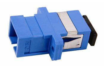 SP-SC-03 optická spojka SC, simplex, SM, modrá