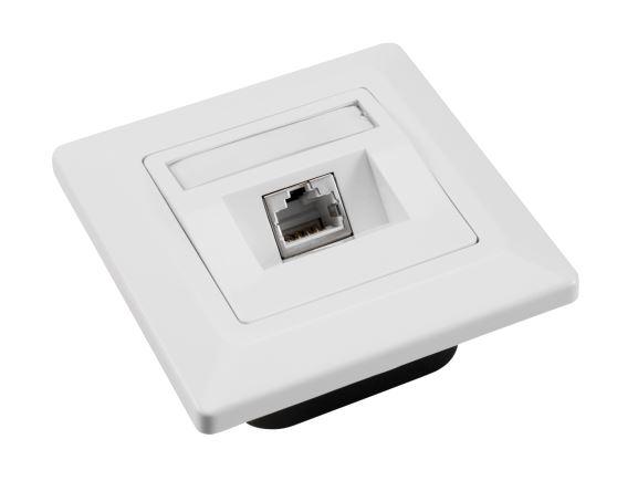 SOLARIX SX9-1-5E-STP-WH zásuvka pod omítku 1xRJ45, STP, kat. 5E, bílá