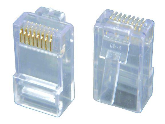 SOLARIX KRJ45/6SLD nestíněný konektor RJ45, kat. 6, skládaný, drát kulatý, 50µ zlata