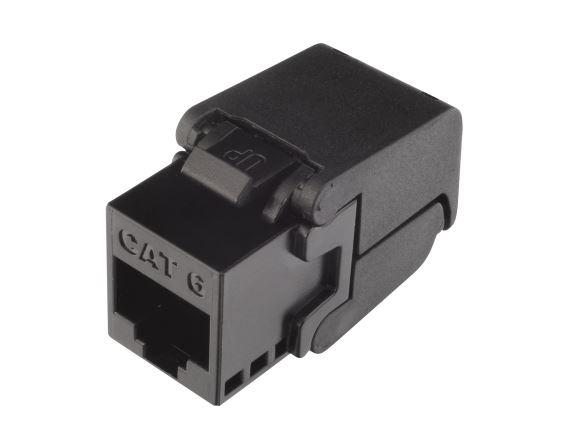 SOLARIX SXKJ-6-UTP-BK-SA modul Keystone, RJ45, kat. 6, UTP, samořezný, černý