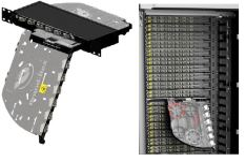 LEVITON FPCPC1XSM48LC2 optická vana FibrePlus Pivoting, 12x quad LC SM,1RU černá