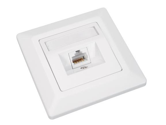 SOLARIX SX9-1-6-UTP-WH zásuvka pod omítku 1xRJ45, UTP, kat. 6, bílá