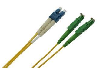 E2/A-LC/P-2-SDL optický propojovací kabel E2000/APC-LC/UPC duplex SM 9/125um 2m