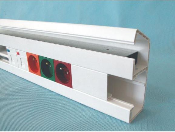 KOPOS PK 120x55 D parapetní kanál 120x55mm s víkem, bílý, kus=2m