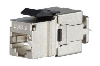 SOLARIX SXKJ-6-STP-BK-NA modul Keystone RJ45, kat. 6, STP, rychlozařezávací, stříbrný