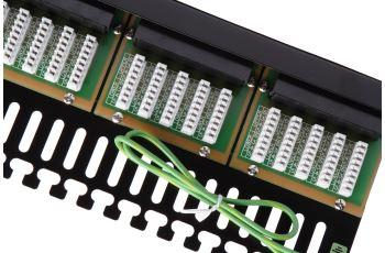 SOLARIX SX50-ISDN-BK voice panel 50xRJ45, kat. 3, UTP, 1U, 19