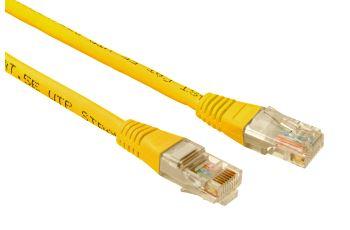 SOLARIX C5E-155YE-2MB propojovací kabel RJ45/RJ45, U/UTP,  2m, kat. 5E, žlutý